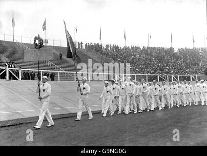 London Olympic Games 1908 - Opening Ceremony - White City - Stock Photo