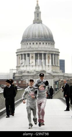 EarthFireIce campaign marathon - Stock Photo