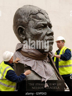 Mandela statue - Stock Photo