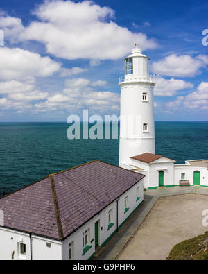 The 1847 lighthouse at Trevose Head near Padstow Cornwall England UK Europe - Stock Photo