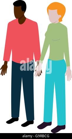 Isometric international couple - Stock Photo