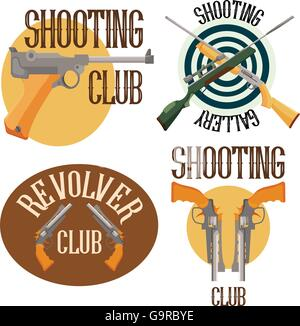 Set of logo shooting club - Stock Photo