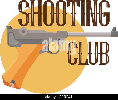 logo shooting club - Stock Photo