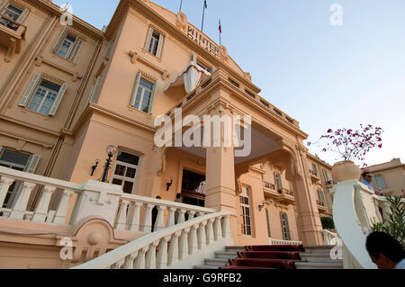 Hotel Winter Palace, Nile, Luxor, Egypt - Stock Photo