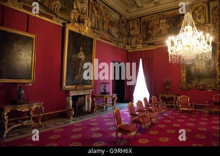 Ambassador's hall, ambassador hall, Grandmaster's Palace, La Valletta, Malta / il-Belt Valetta, il-Palazz - Stock Photo