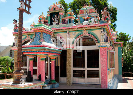Hindu Ltemple, Mauritius, Africa, Indian Ocean / Ganga Talao - Stock Photo