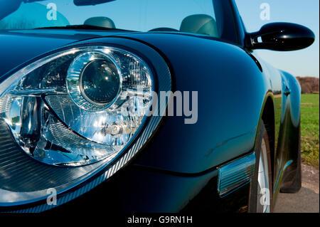 Porsche 911 Carrera 4S convertible, 997, Sportscar, four wheel drive, race car - Stock Photo