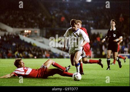 Soccer - UEFA Champions League - First Round - 2nd leg - Leeds United v VfB Stuttgart - Elland Road - Stock Photo