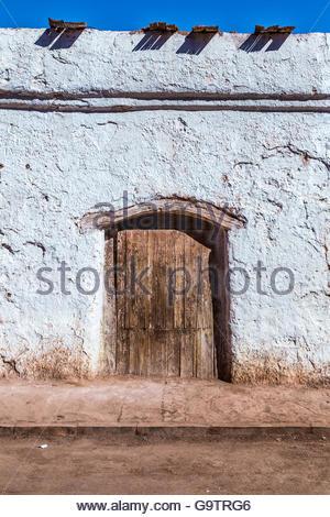 Rustic house in Atacama Desert, Chile - Stock Photo