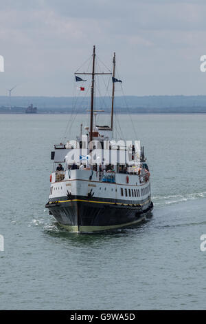 MV Balmoral Arriving at Southend-on-Sea - Stock Photo