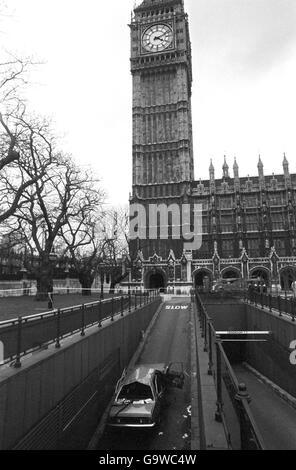 British Crime - Terrorism - IRA Mainland Bombing Campaign - London - 1979 - Stock Photo
