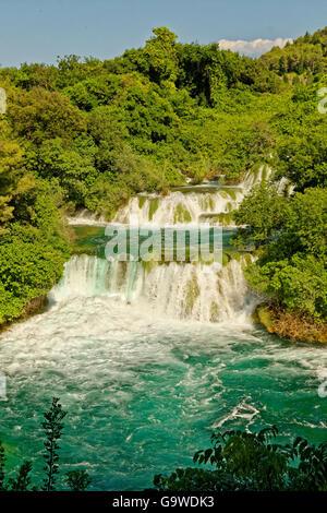 Upper Falls at Krka National Park, near Sibenik, Croatia - Stock Photo