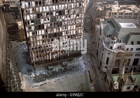 British Crime - Terrorism - IRA Mainland Bombing Campaign - London - 1991 - Stock Photo