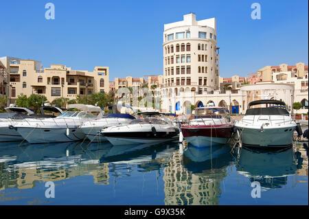 boats and yachts, Marina Tala Bay, Aqaba, Jordan,  Asia Minor / Akaba - Stock Photo