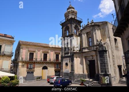 Chiesa Sant Antonio Abate in Castiglione di Sicilia, Sicily, Italy - Stock Photo