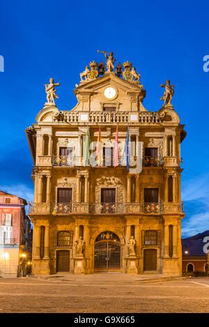 Pamplona CIty Hall, Spain - Stock Photo