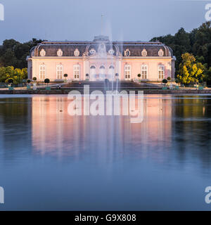 Palace in Dusseldorf Benrath, Germany - Stock Photo