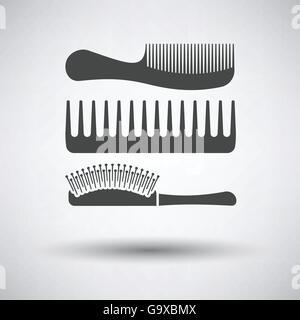 Hairbrush Icon White Background With Shadow Design