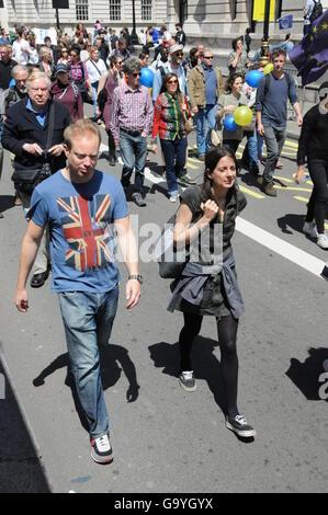 Pro-EU Protest in London - Stock Photo