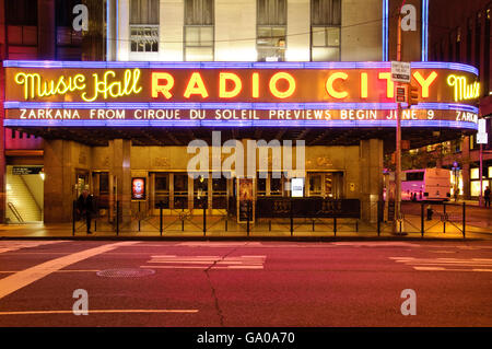Radio City Musical Hall, Avenue of the Americas, 6th Ave, New York City, New York, USA - Stock Photo