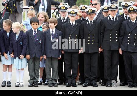 Falklands 25 Year Memorial Service - Berkshire - Stock Photo