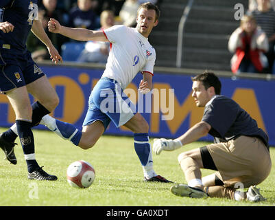 Soccer - Euro 2008 Qualifying - Group B - Faroe Island v Scotland - Svangaskard Stadium - Stock Photo