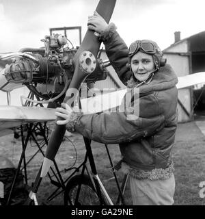 Demoiselle Monoplane - Joan Hughes - Airways Flying Club - Maidenhead - Stock Photo