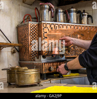copper tea stove - Stock Photo