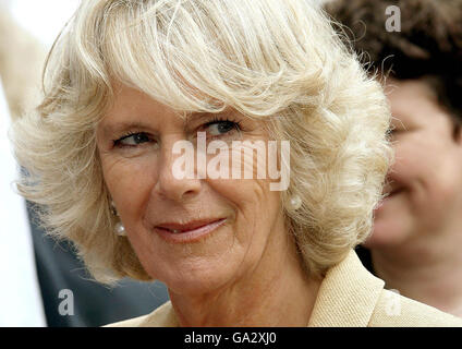 Prince Charles and Camilla in Wiltshire - Stock Photo
