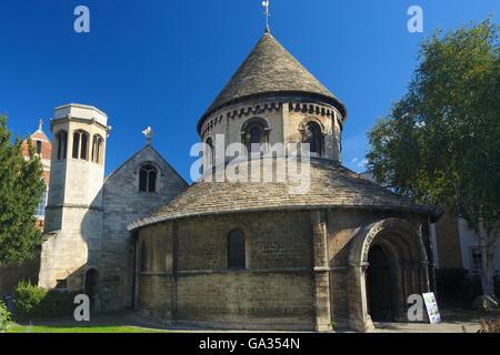 Church of Holy Sepulchre, or Round Church, Cambridge, Cambridgeshire, England, UK, GB, Europe - Stock Photo