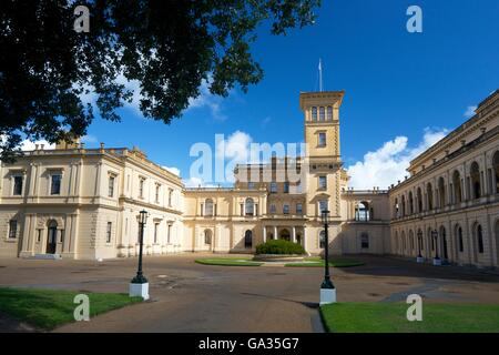 Osborne House, former royal residence, built 1845-1851 for Queen Victoria and Prince Albert, East Cowes, Isle of - Stock Photo