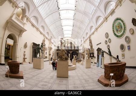 New Renaissance Galleries, Victoria and Albert Museum, London, UK - Stock Photo