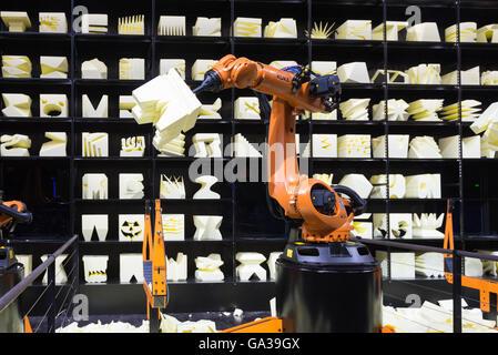 Robot Arm at Cebit - Stock Photo