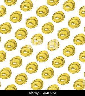 Italian filled pasta food seamless pattern - Stock Photo