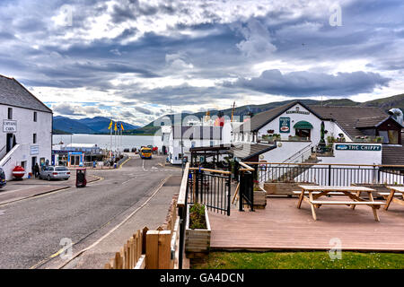 Ullapool is a town of around 1,500 inhabitants in Ross-shire, Scottish Highlands - Stock Photo