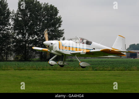 Vans RV-6A G-RVDR taking-off from Breighton Airfield - Stock Photo