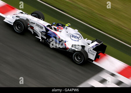 Formula One Motor Racing - French Grand Prix - Practice - Magny Cours - Stock Photo