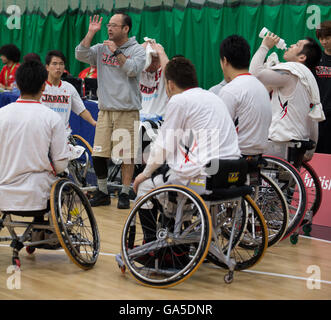 Leicester Sports Arena, Leicester, UK. 03rd July, 2016. Continental Clash Wheelchair Basketball, USA versus Japan. - Stock Photo