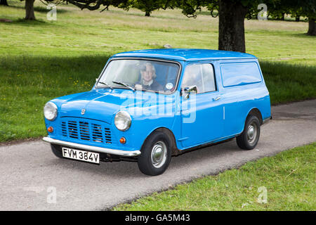 1980 Austin Morris Mini 95 van at Leighton Hall Classic Car Rally, Carnforth, Lancashire, UK.  3rd July, 2016.  - Stock Photo