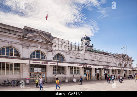 Cardiff, Wales: 27 June 2016 - Cardiff Central Railway Station. - Stock Photo