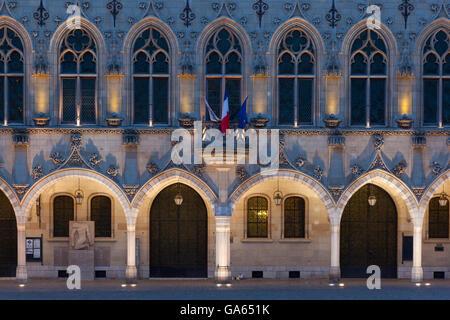 Town hall, Place des Héros, Arras, Pas de Calais Department, Nord-Pas de Calais Picardie region, France - Stock Photo