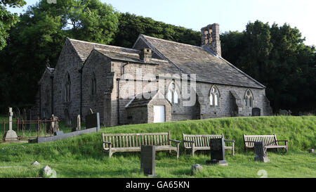 St. Peter's Church in the village of Heysham, Lancashire, in the north of England. - Stock Photo