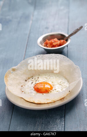 sri lankan egg hopper, bittara aappa - Stock Photo