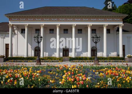 Casino, Kurhaus spa resort, Kurpark spa gardens, Baden-Baden, Black Forest mountain range, Baden-Wuerttemberg - Stock Photo