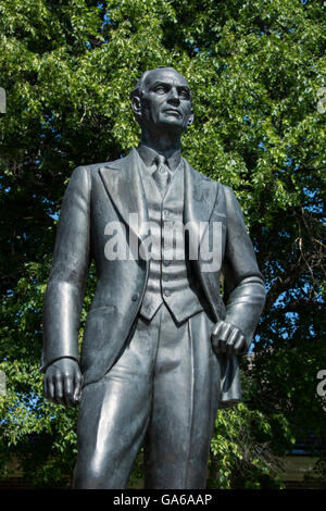 Michigan, Dearborn, Henry Ford Museum. Statue of Henry Ford. - Stock Photo