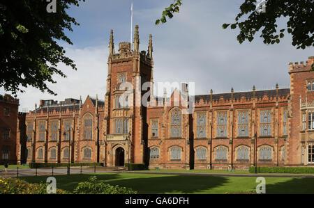 The Queen's University in Belfast, Northern Ireland. - Stock Photo