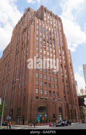 Landmarked art deco Western Union Building (60 Hudson Street) in Tribeca, New York. - Stock Photo