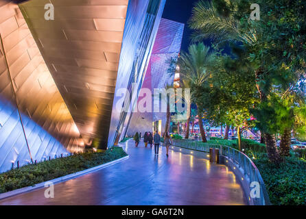 View of the strip in Las Vegas - Stock Photo