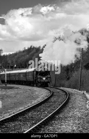Black and White of Railway Journey - Stock Photo