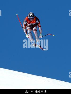 Winter Olympics - Salt Lake City 2002 - Alpine Skiing - Men's Downhill - Stock Photo